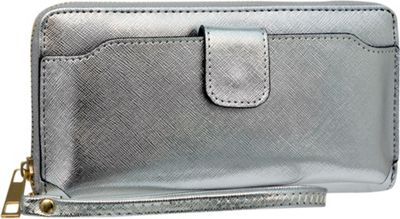 Rebecca & Rifka Single Zip Wristlet Wallet Silver - Rebecca & Rifka Women's Wallets