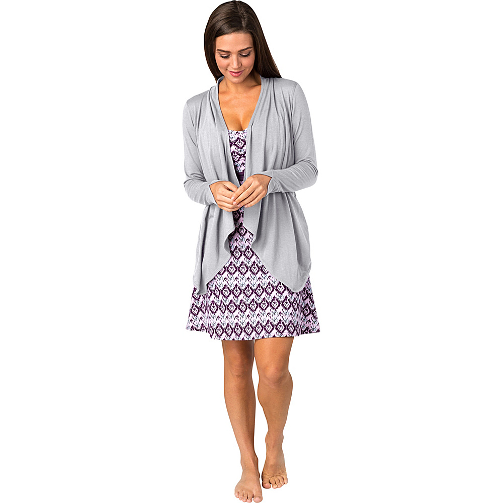 Soybu Womens Exhale Wrap L - Platinum - Soybu Womens Apparel - Apparel & Footwear, Women's Apparel