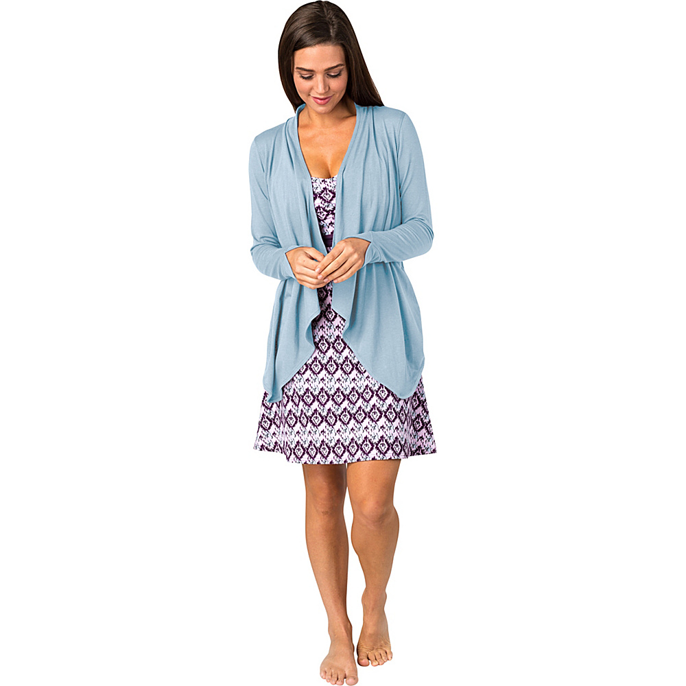 Soybu Womens Exhale Wrap M - Aero Blue - Soybu Womens Apparel - Apparel & Footwear, Women's Apparel