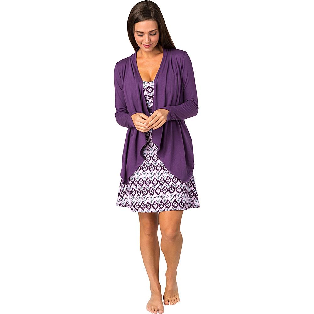 Soybu Womens Exhale Wrap L - Concord Grape - Soybu Womens Apparel - Apparel & Footwear, Women's Apparel
