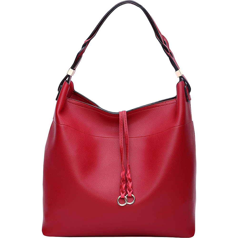 MKF Collection by Mia K. Farrow Davina Hobo Red - MKF Collection by Mia K. Farrow Manmade Handbags - Handbags, Manmade Handbags