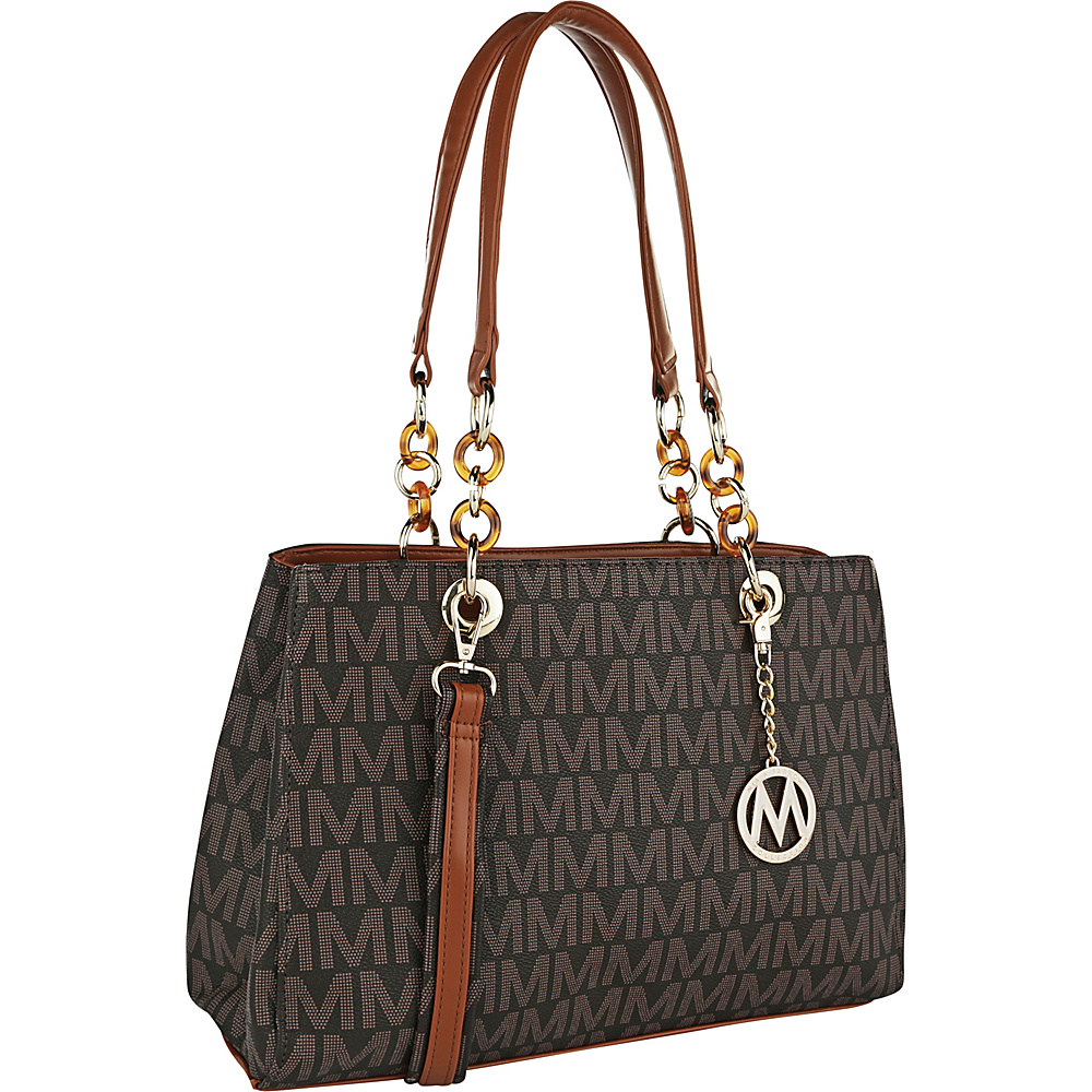 MKF Collection by Mia K. Farrow Mirna M Signature Ultimate Set Tote & Wallet Brown - MKF Collection by Mia K. Farrow Manmade Handbags - Handbags, Manmade Handbags