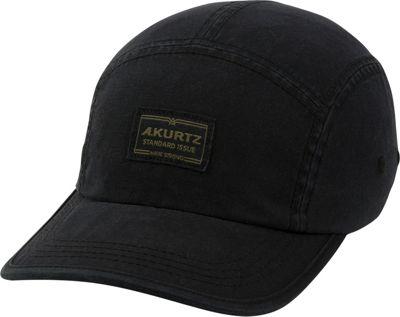 Image of A Kurtz Admiral Camp Cap One Size - Black - A Kurtz Hats/Gloves/Scarves
