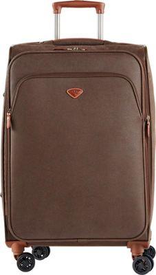 Jump Uppsala Medium Expandable Spinner Suitcase Chocolate - Jump Softside Checked
