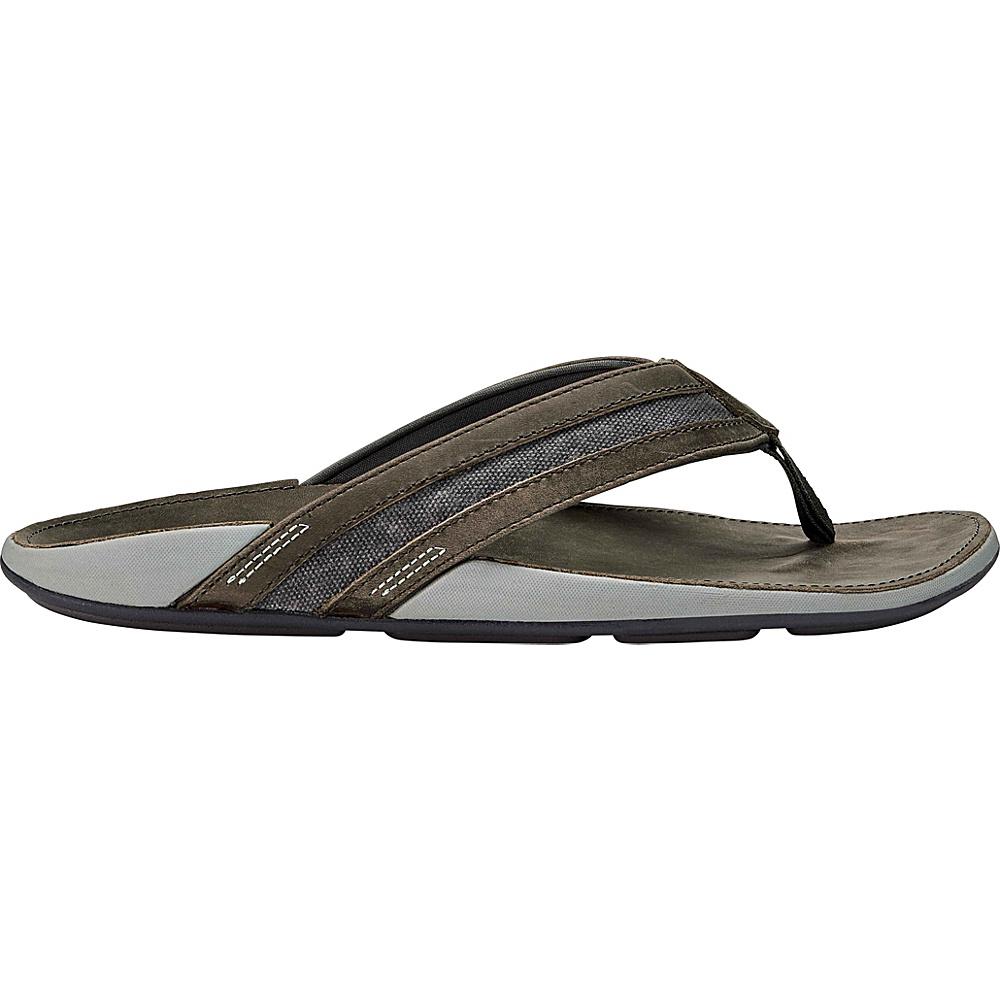 OluKai Mens Ikoi Sandal 13 - Charcoal - OluKai Mens Footwear - Apparel & Footwear, Men's Footwear