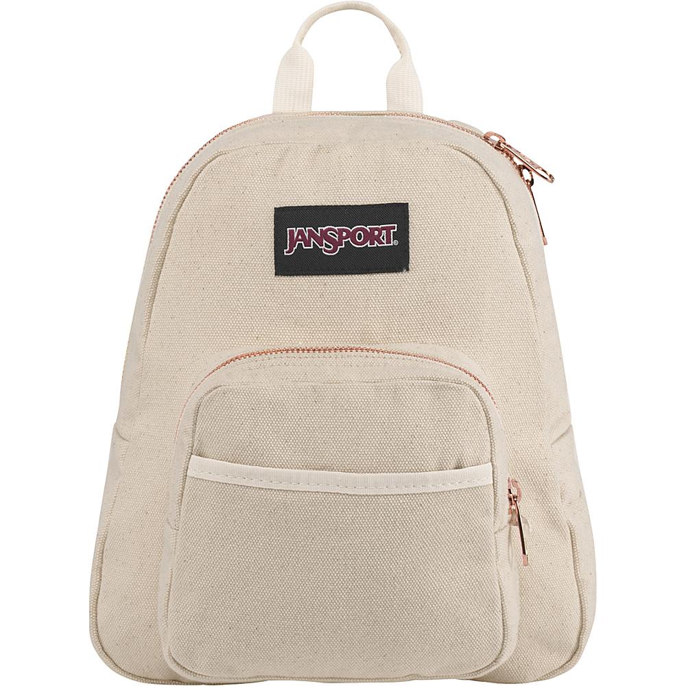 JanSport Half Pint FX Mini Backpack Rose Gold - JanSport Fabric Handbags