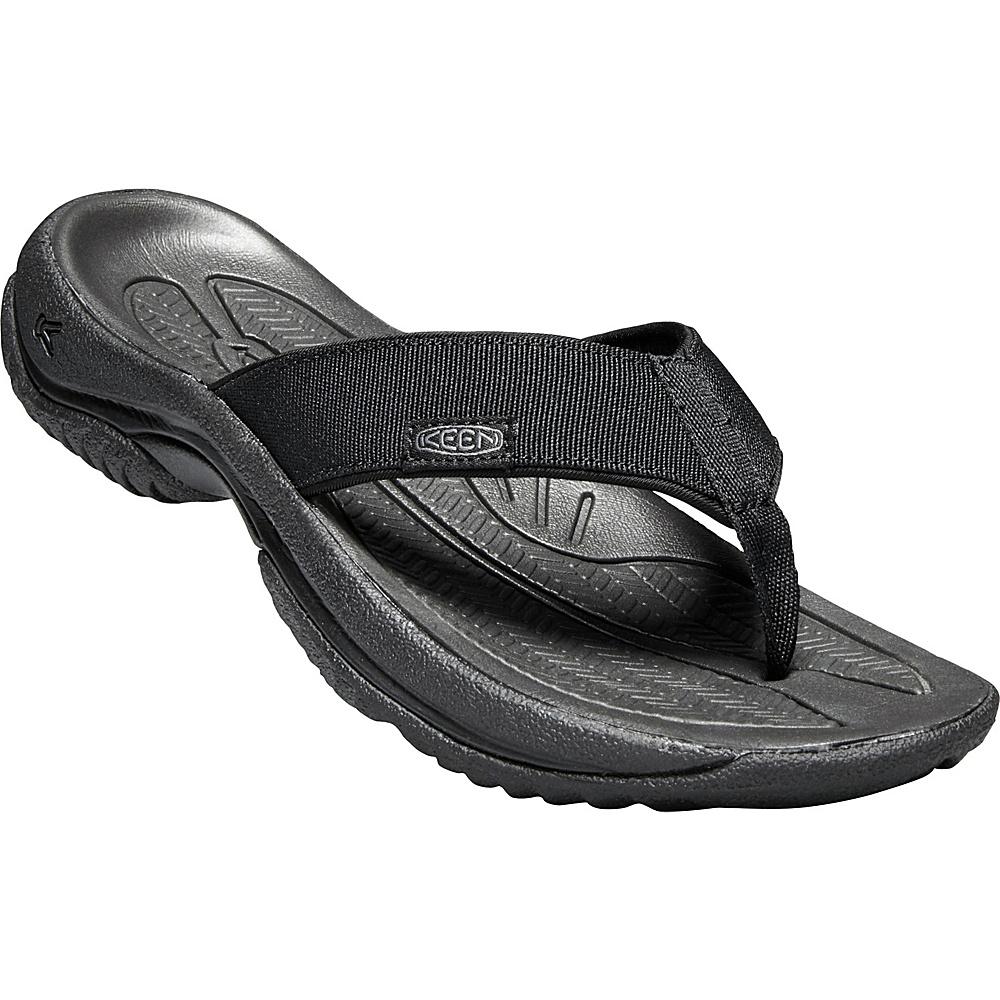 KEEN Mens Kona Flip 7.5 - Black/Steel Grey - KEEN Mens Footwear - Apparel & Footwear, Men's Footwear