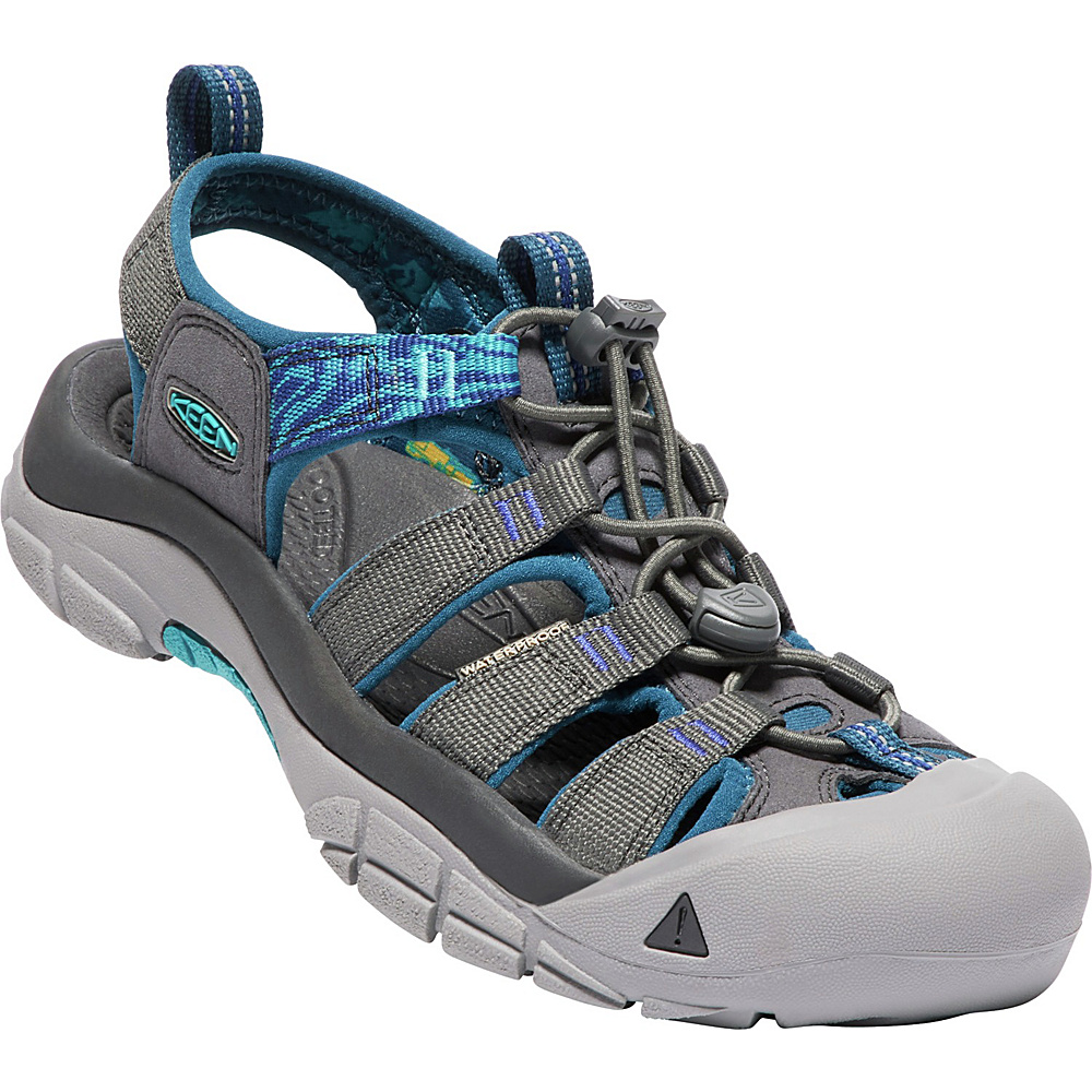 KEEN Womens Newport Hydro Sandals 7 - Magnet/Surf The Web - KEEN Womens Footwear - Apparel & Footwear, Women's Footwear