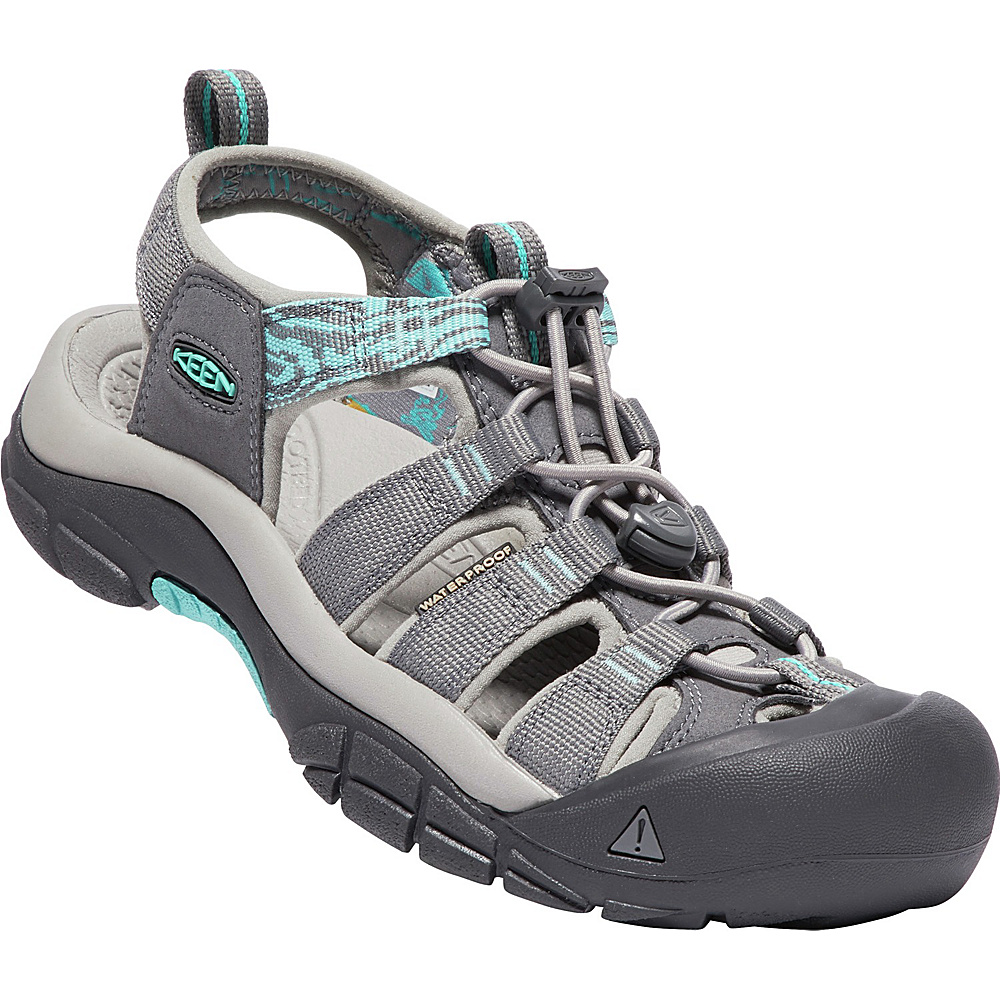 KEEN Womens Newport Hydro Sandals 6 - Steel Grey/Blue Turquoise - KEEN Womens Footwear - Apparel & Footwear, Women's Footwear
