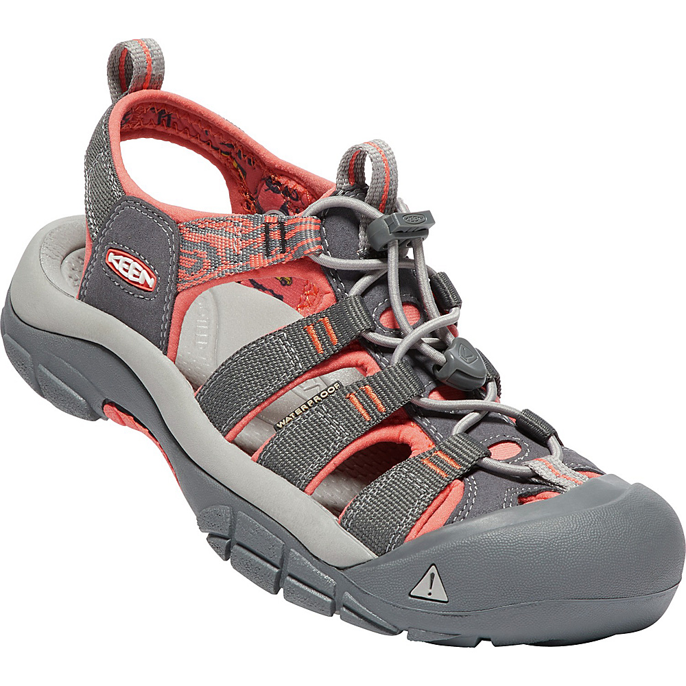 KEEN Womens Newport Hydro Sandals 9 - Magnet/Coral - KEEN Womens Footwear - Apparel & Footwear, Women's Footwear