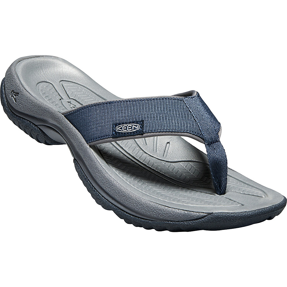 KEEN Mens Kona Flip Sandals 11 - Dress Blues/Steel Grey - KEEN Mens Footwear - Apparel & Footwear, Men's Footwear