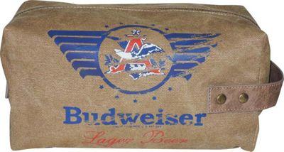 Budweiser Eagle Wings Single Zip Travel Kit Beige - Budweiser Toiletry Kits