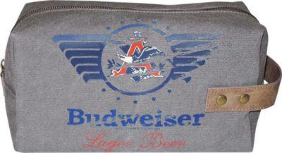 Budweiser Eagle Wings Single Zip Travel Kit Grey - Budweiser Toiletry Kits