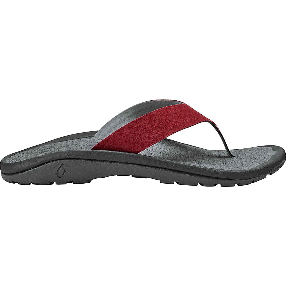 OluKai Mens Ohana Hookahi Sandals 7 - Terra/Charcoal - OluKai Mens Footwear - Apparel & Footwear, Men's Footwear