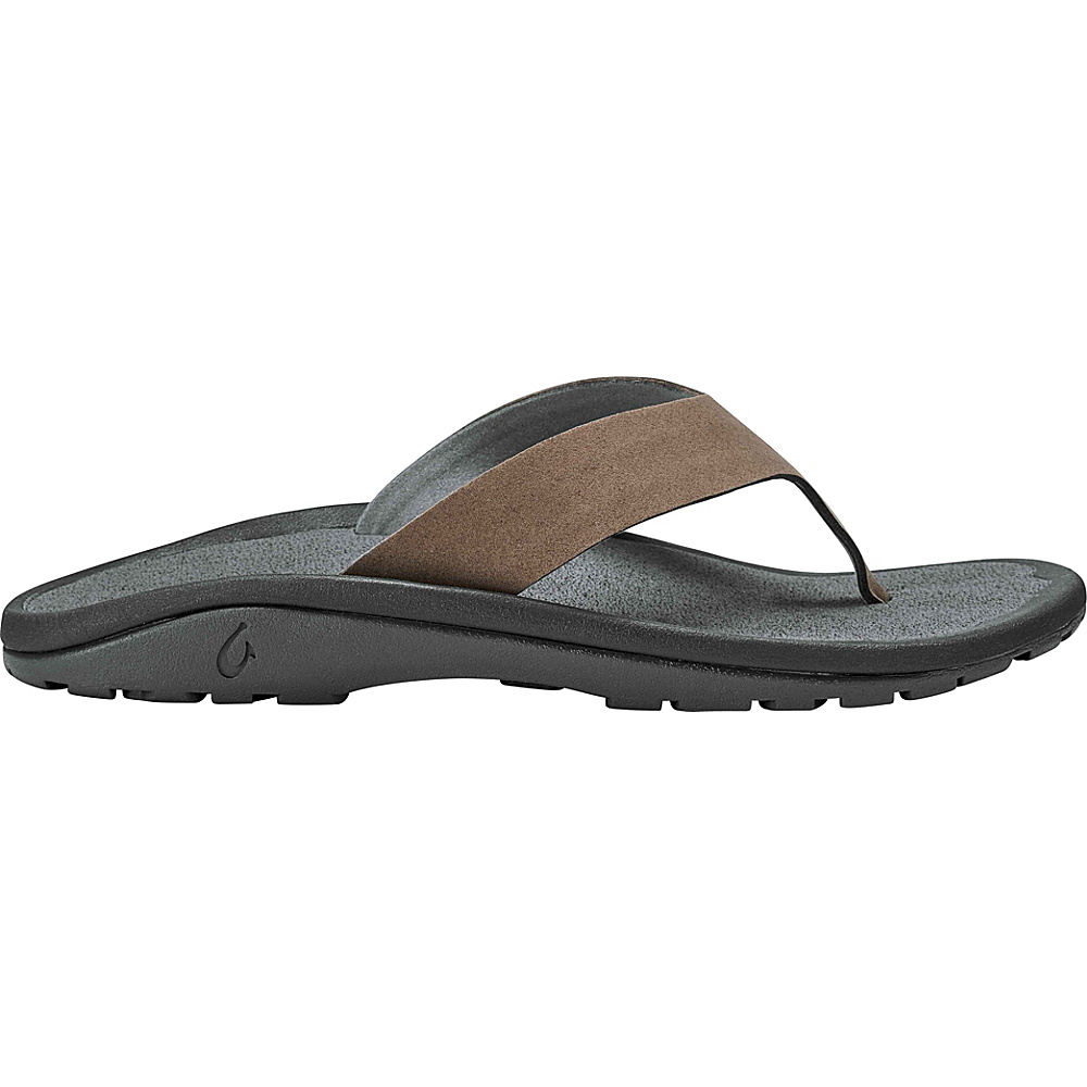 OluKai Mens Ohana Hookahi Sandals 12 - Mustang/Charcoal - OluKai Mens Footwear - Apparel & Footwear, Men's Footwear