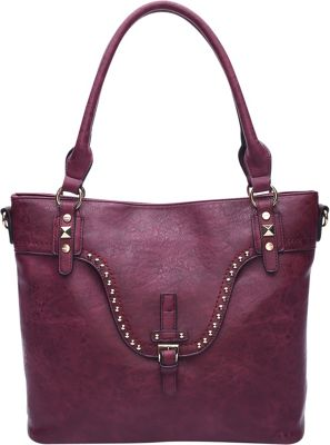 STYLE STRATEGY Ariene Shoulder Bag Wine Red - STYLE STRATEGY Manmade Handbags