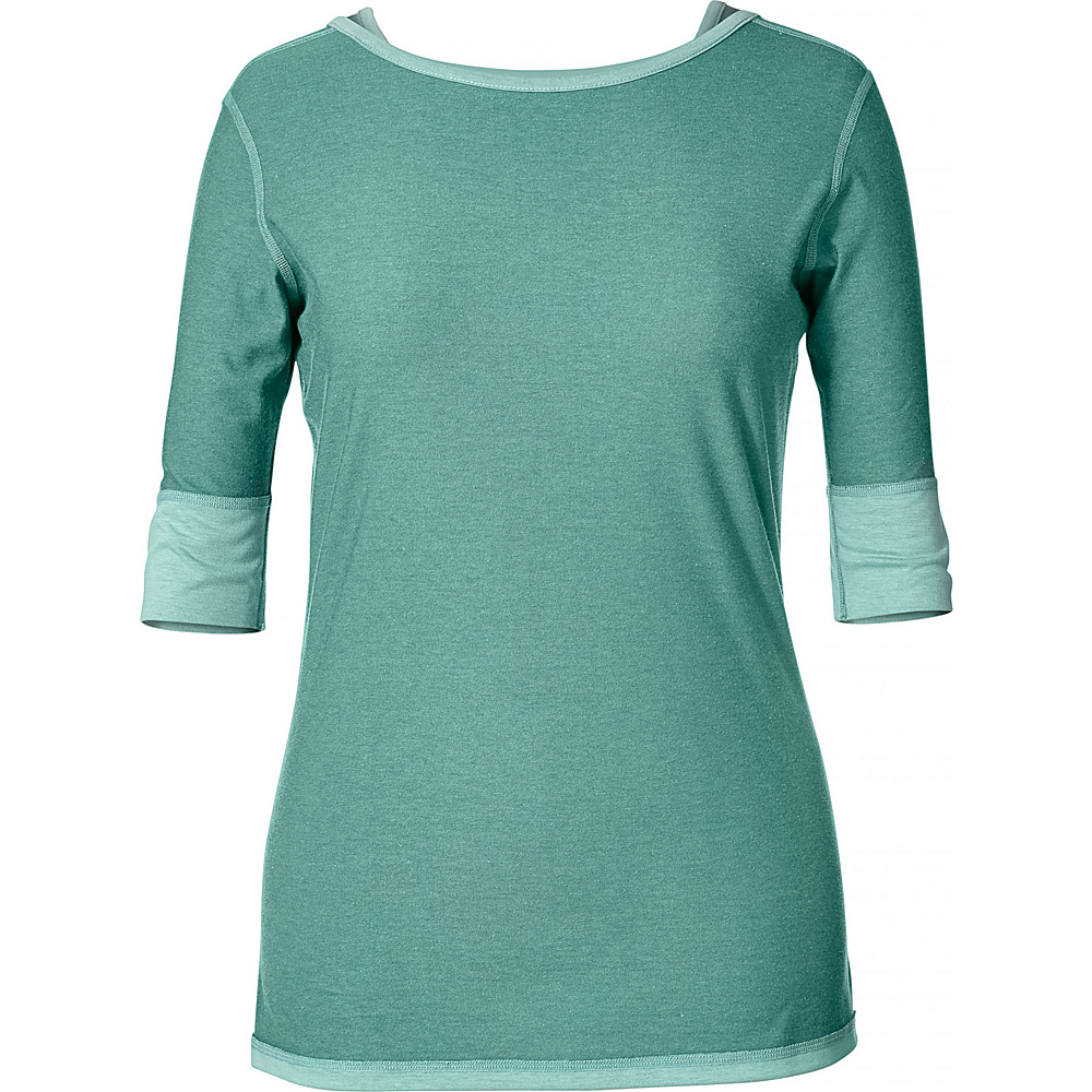 Royal Robbins Womens Flip N Twist Tee L - Opal - Royal Robbins Womens Apparel - Apparel & Footwear, Women's Apparel
