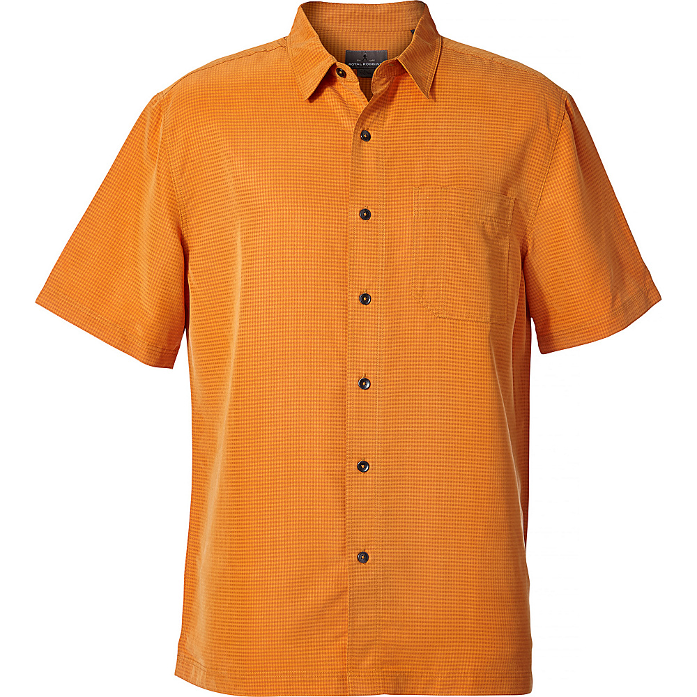 Royal Robbins Mens Desert Pucker Dry Short Sleeve Shirt L - Desert Sun - Royal Robbins Mens Apparel - Apparel & Footwear, Men's Apparel