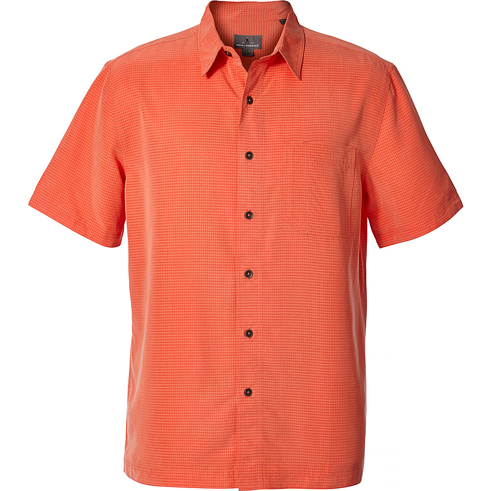 Royal Robbins Mens Desert Pucker Dry Short Sleeve Shirt S - Ember Glow - Royal Robbins Mens Apparel - Apparel & Footwear, Men's Apparel