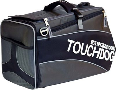 Touchdog Modern-Glide Airline Approved Water-Resistant Dog Carrier Jet Black - Touchdog Pet Bags