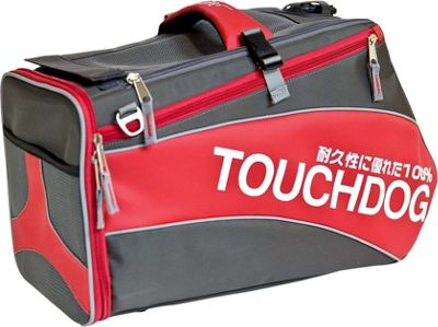 Touchdog Modern-Glide Airline Approved Water-Resistant Dog Carrier Red - Touchdog Pet Bags