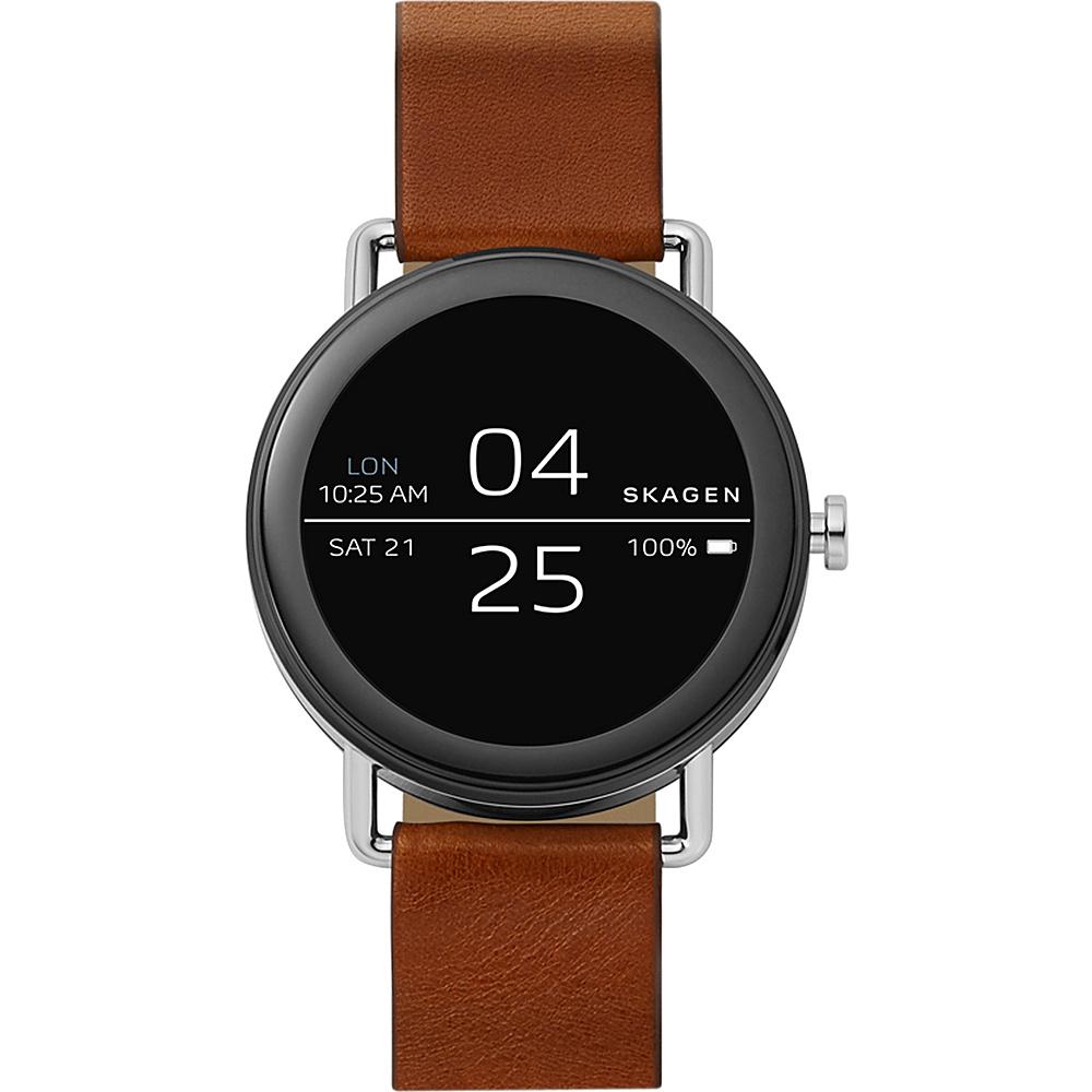 Skagen Falster Brown Leather Smartwatch Brown - Skagen Wearable Technology
