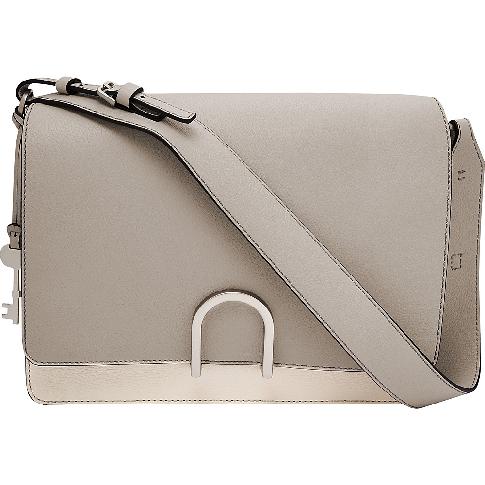 Fossil Finley Shoulder Bag Mineral Gray - Fossil Leather Handbags - Handbags, Leather Handbags