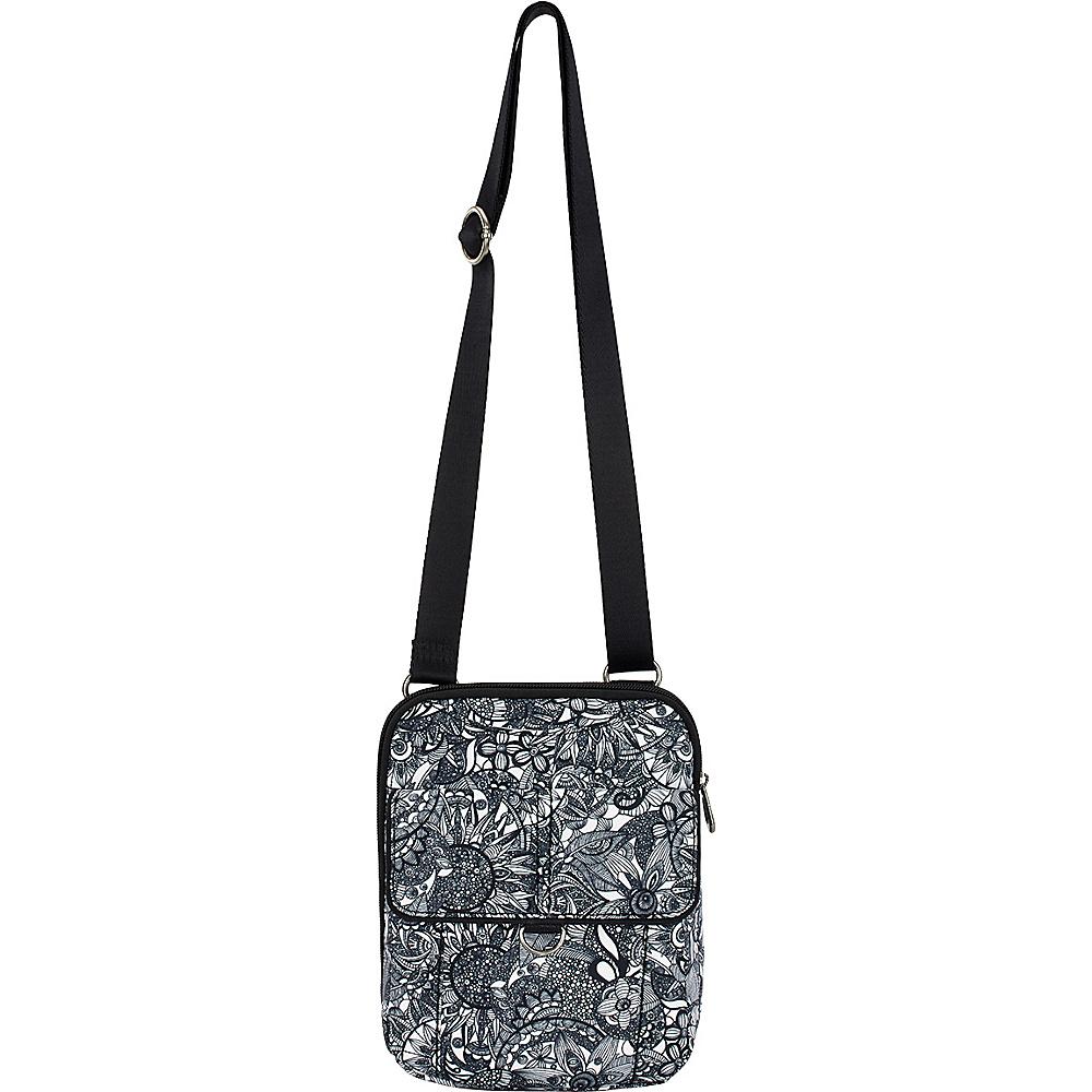 Sakroots Wynnie Small Flap Messenger Black & White Spirit Desert - Sakroots Fabric Handbags - Handbags, Fabric Handbags