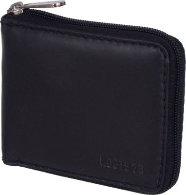 Roots 73 Roots 73 Mens Leather Zip Around Wallet Black - Roots 73 Men's Wallets