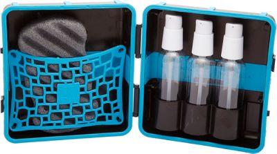 LuxePak Mini Toiletry Kit with Sponge Neon Blue - LuxePak Mini Toiletry Kits