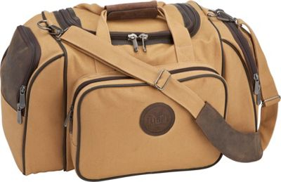 Flight Outfitters Flight Outfitters Bush Pilot Duffel Bag Tan/Brown/Orange - Flight Outfitters Travel Duffels