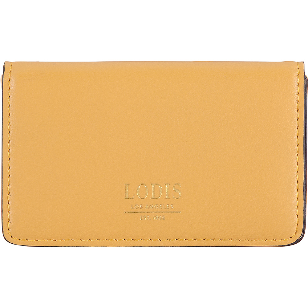 Lodis Laguna RFID Mini Card Case Yellow - Lodis Business Accessories - Work Bags & Briefcases, Business Accessories