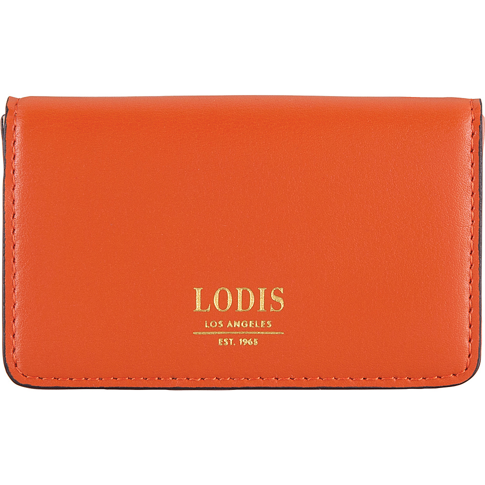Lodis Laguna RFID Mini Card Case Papaya - Lodis Business Accessories - Work Bags & Briefcases, Business Accessories