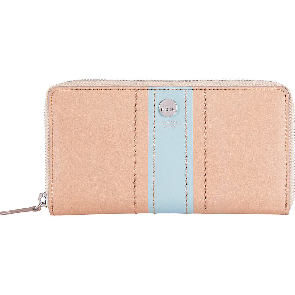 Lodis Rodeo Stripe RFID Perla Zip Wallet Beige - Lodis Womens Wallets - Women's SLG, Women's Wallets