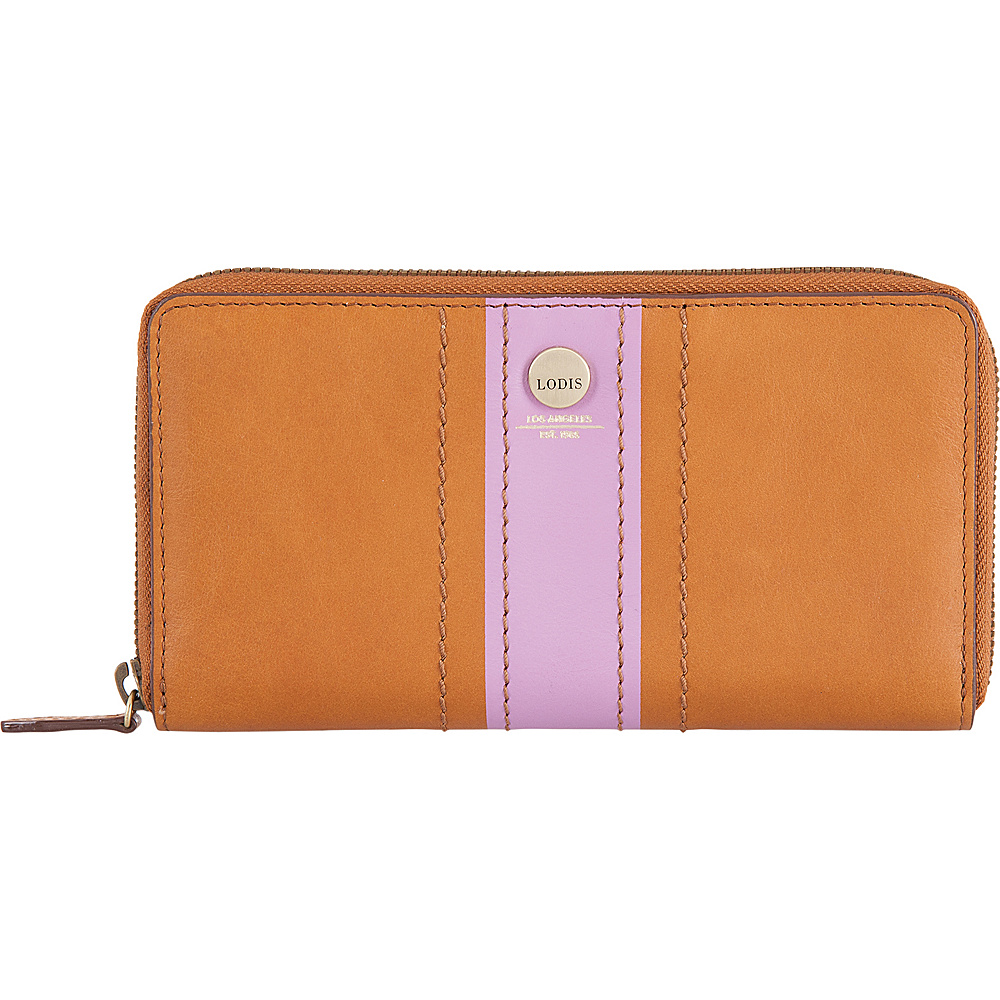 Lodis Rodeo Stripe RFID Perla Zip Wallet Toffee - Lodis Womens Wallets - Women's SLG, Women's Wallets