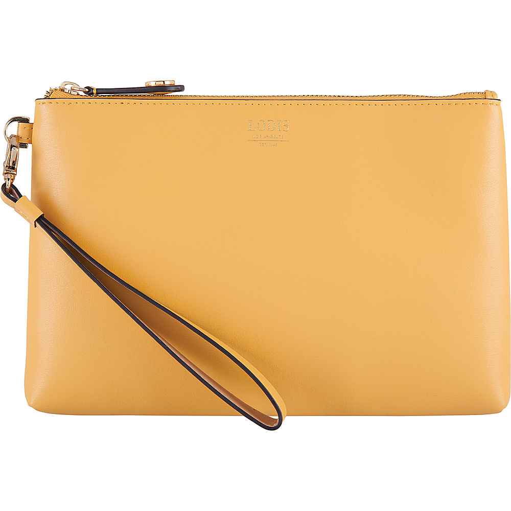 Lodis Laguna RFID Koto Wristlet Pouch Yellow - Lodis Leather Handbags - Handbags, Leather Handbags