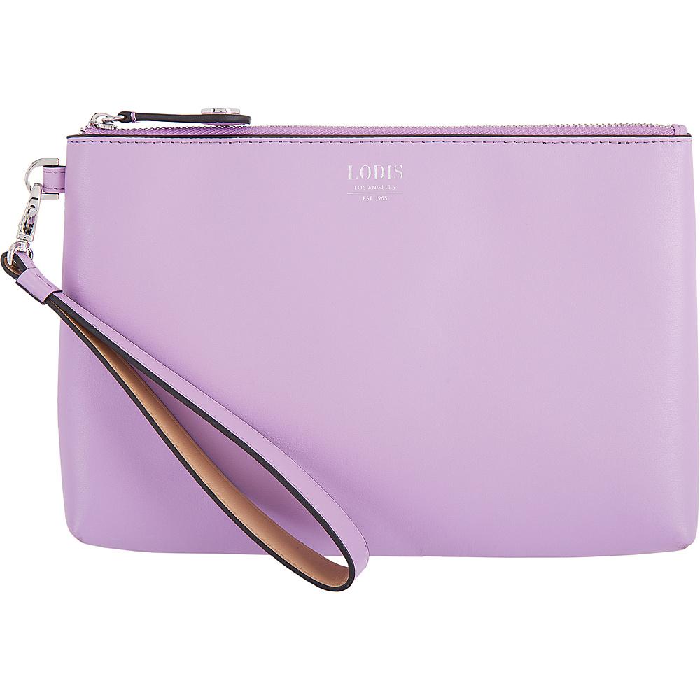 Lodis Laguna RFID Koto Wristlet Pouch Lavender - Lodis Leather Handbags - Handbags, Leather Handbags