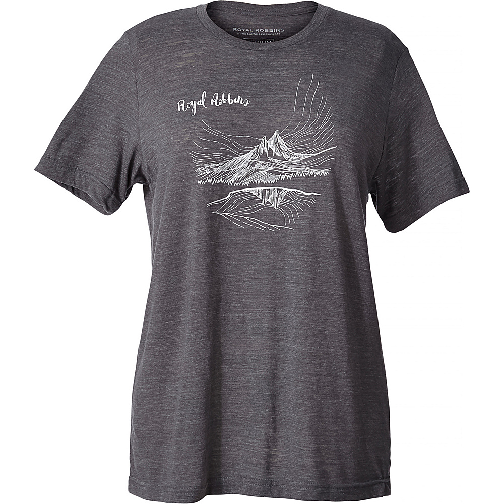 Royal Robbins Womens First Date Tee S - Charcoal - Royal Robbins Womens Apparel - Apparel & Footwear, Women's Apparel