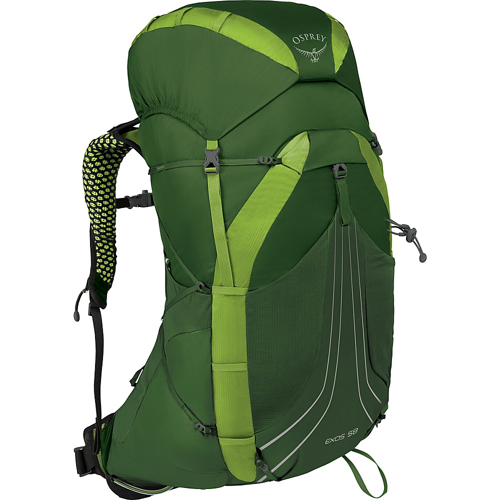 Osprey Exos 58 Hiking Backpack Tunnel Green – SM - Osprey Backpacking Packs - Outdoor, Backpacking Packs