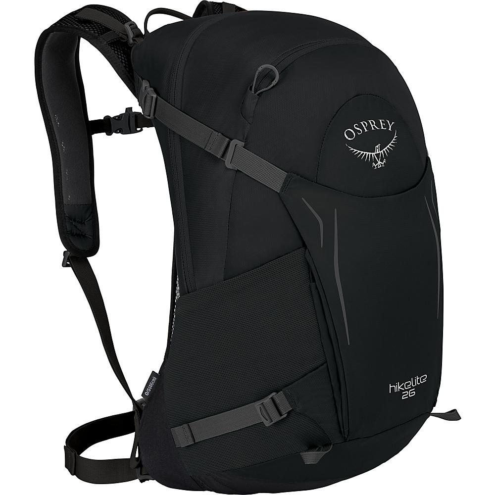 Osprey Hikelite 26 Hiking Backpack Black - Osprey Day Hiking Backpacks - Outdoor, Day Hiking Backpacks