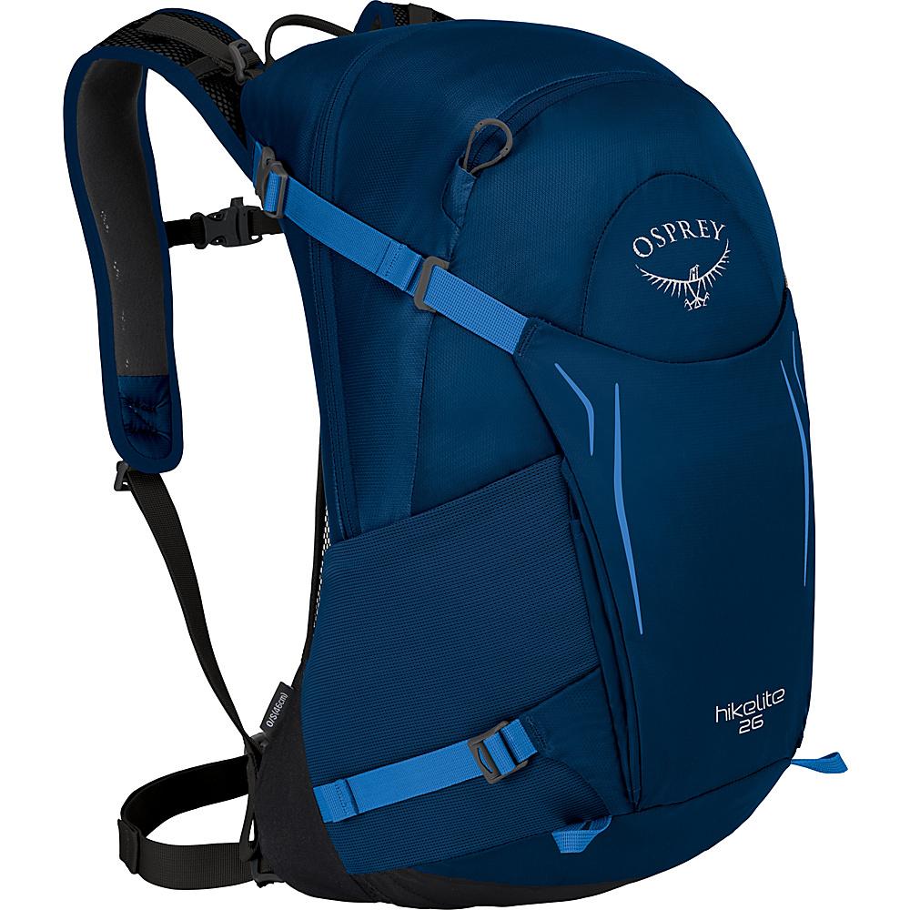 Osprey Hikelite 26 Hiking Backpack Blue Bacca - Osprey Day Hiking Backpacks - Outdoor, Day Hiking Backpacks