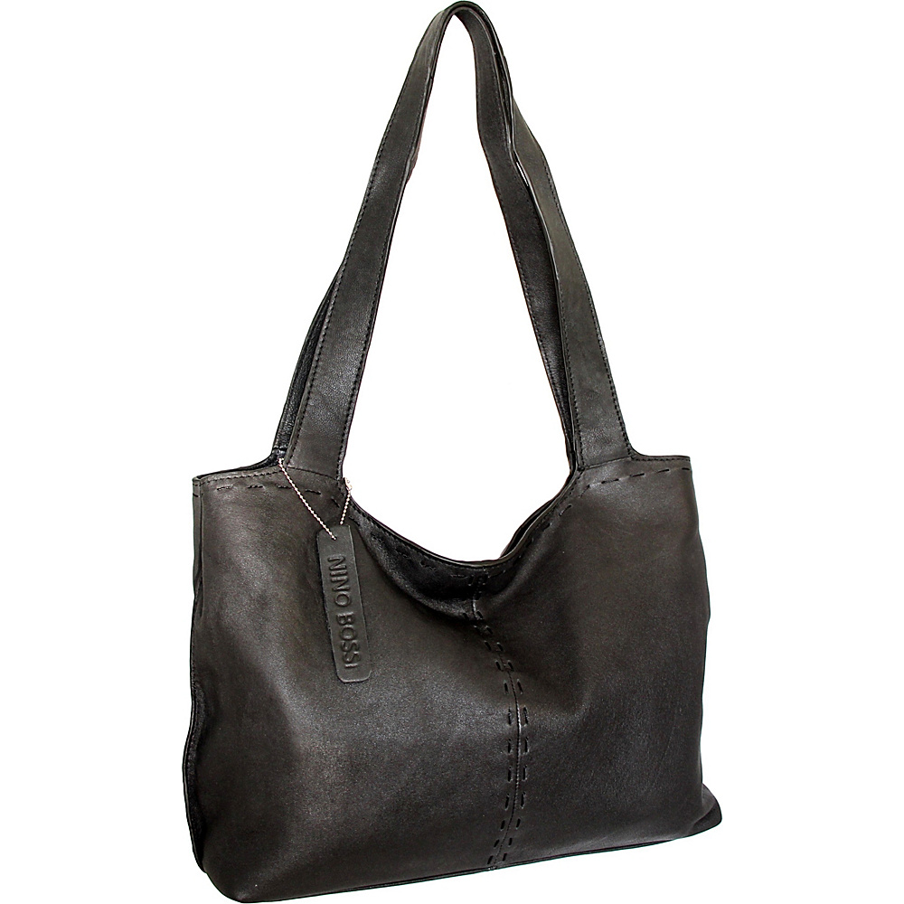 Nino Bossi Susie Satchel Black - Nino Bossi Leather Handbags - Handbags, Leather Handbags