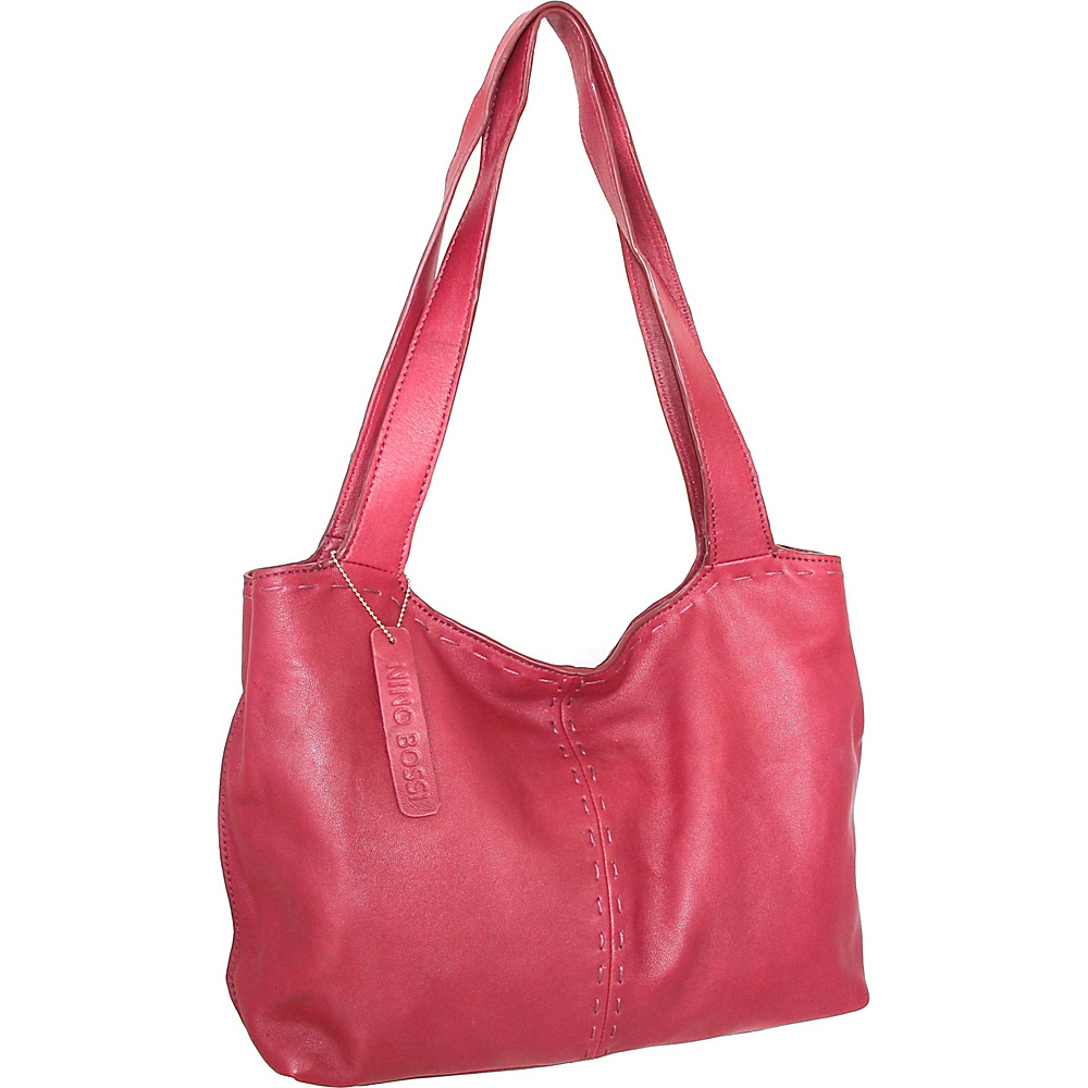 Nino Bossi Susie Satchel Fuchsia - Nino Bossi Leather Handbags - Handbags, Leather Handbags