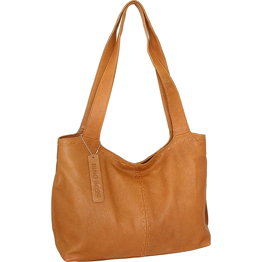 Nino Bossi Susie Satchel Cognac - Nino Bossi Leather Handbags - Handbags, Leather Handbags