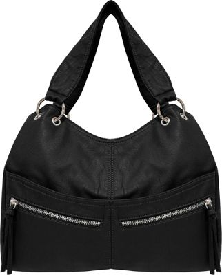 Bueno Textured Shoulder Bag Black - Bueno Manmade Handbags
