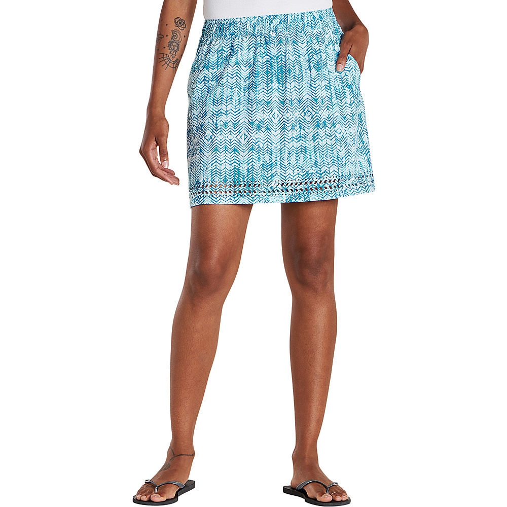 Toad & Co Womens Sunkissed Skort S - Deepwater Herringbone Print - Toad & Co Womens Apparel - Apparel & Footwear, Women's Apparel