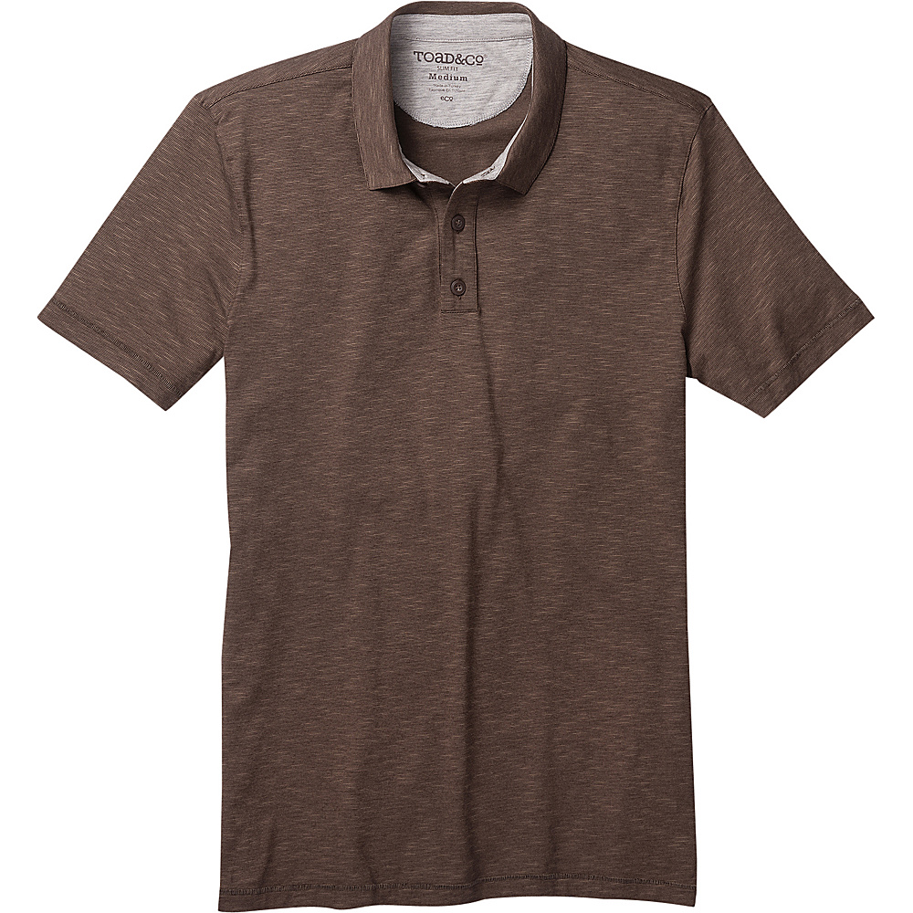Toad & Co Mens Tempo Short Sleeve Slim Polo XL - Jeep - Toad & Co Mens Apparel - Apparel & Footwear, Men's Apparel