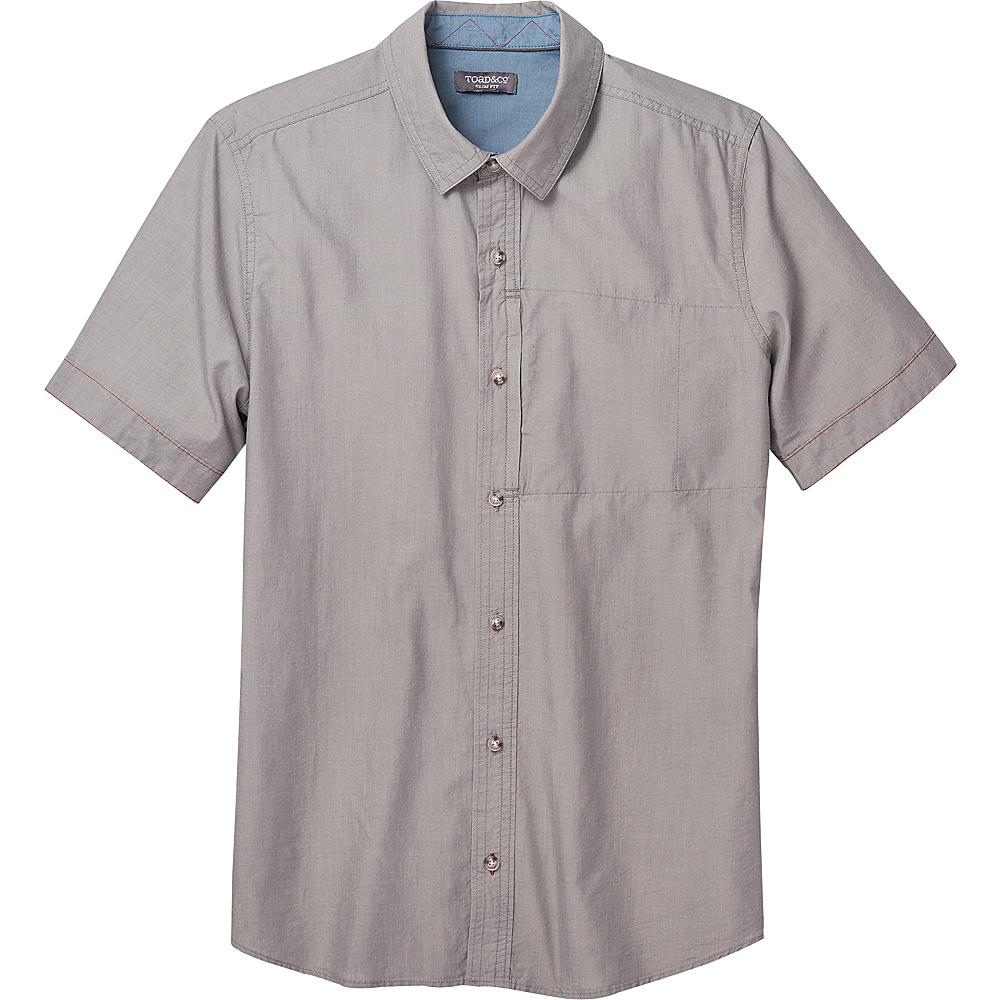 Toad & Co Mens Cutler Short Sleeve Slim Shirt M - Smoke - Toad & Co Mens Apparel - Apparel & Footwear, Men's Apparel