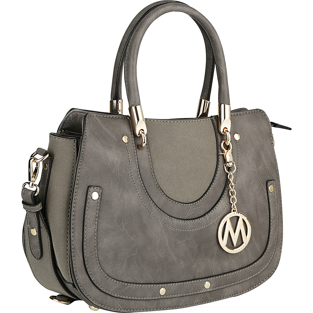 MKF Collection by Mia K. Farrow Casey Shoulder Bag Grey - MKF Collection by Mia K. Farrow Manmade Handbags - Handbags, Manmade Handbags
