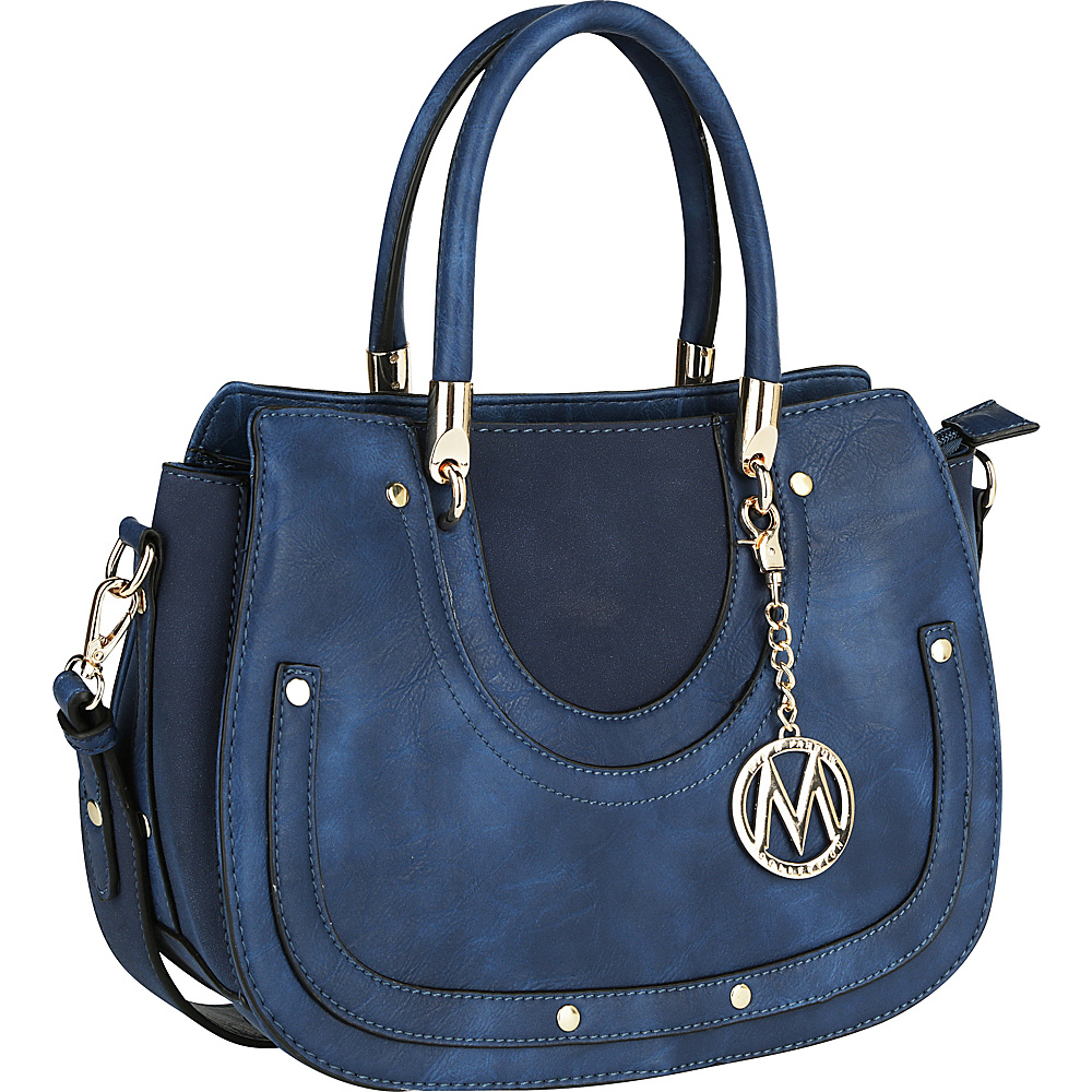 MKF Collection by Mia K. Farrow Casey Shoulder Bag Blue - MKF Collection by Mia K. Farrow Manmade Handbags - Handbags, Manmade Handbags